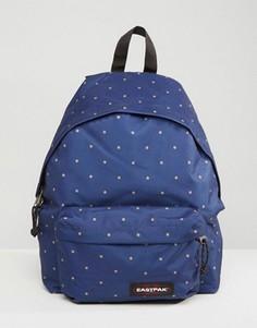 Темно-синий уплотненный рюкзак в горошек Eastpak PakR - Темно-синий