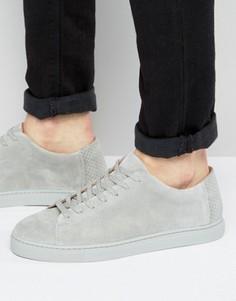 Замшевые кроссовки Selected Homme David - Серый