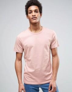 Футболка с фактурной отделкой Selected Homme - Розовый