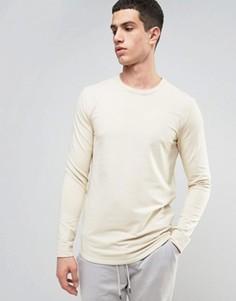 Длинный свитшот с асимметричным краем Selected Homme - Серый