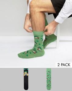 2 пары носков ASOS Simpsons St. Patricks Day - Мульти