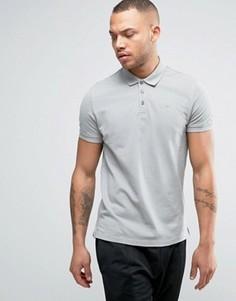 Темно-серое поло классического кроя из пике Armani Jeans - Серый