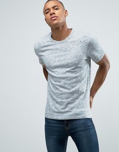 Узкая меланжевая футболка-премиум Jack & Jones - Синий