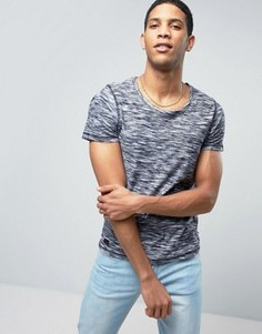 Меланжевая футболка Produkt - Темно-синий