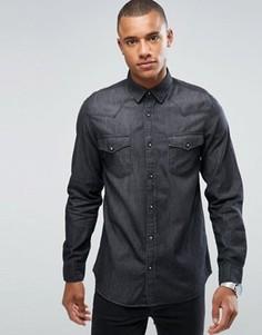 Джинсовая рубашка Produkt - Черный