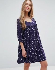Цельнокройное платье Ivana Helsinki Moomin Annikki - Темно-синий