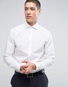 Строгая облегающая рубашка из фактурной ткани Calvin Klein - Белый