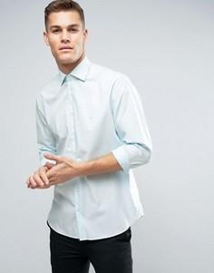 Рубашка узкого кроя в полоску Calvin Klein - Зеленый