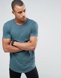 Длинная футболка с закругленным низом Only & Sons - Синий