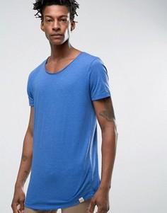 Меланжевая трикотажная футболка Lee - Синий