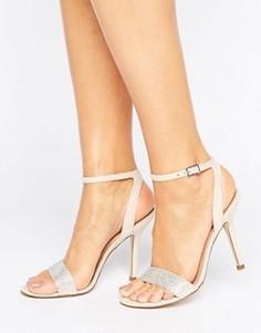 Босоножки на каблуке с ремешком вокруг щиколотки ALDO - Stone