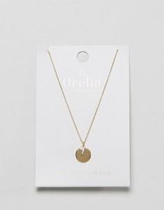 Позолоченное ожерелье с молнией и монетой Orelia - Золотой