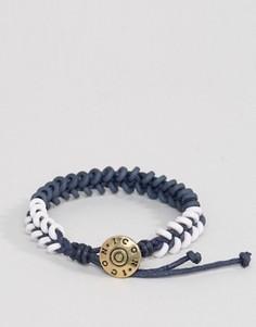 Сине-белый плетеный браслет Icon Brand - Синий