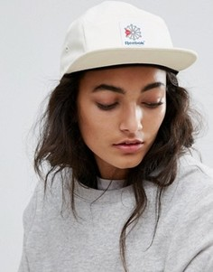 Белая 5-панельная кепка Reebok Classics - Кремовый