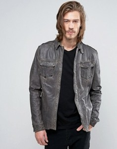 Кожаная рубашка Goosecraft - Черный