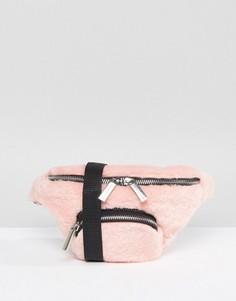 Сумка-кошелек на пояс из искусственной кожи Skinnydip - Розовый