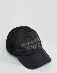 Черная бейсболка Armani Jeans 1981 - Черный