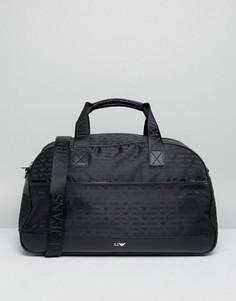 Черная сумка с логотипом Armani Jeans - Черный
