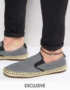 Черный кожаный браслет на ногу DesignB London - Черный