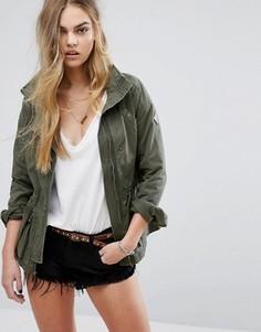 Саржевая куртка Hollister - Зеленый