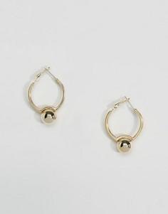 Серьги-кольца с шариками DesignB London - Золотой