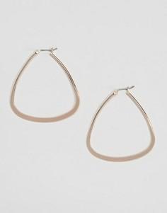 Треугольные серьги-кольца DesignB London - Золотой