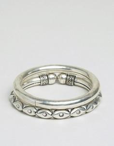 Набор браслетов в тибетском стиле Sacred Hawk - Серебряный