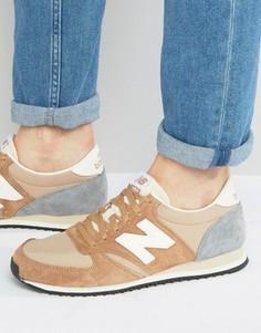 Песочные кроссовки в стиле 70-х New Balance Running 420 U420ROA - Рыжий