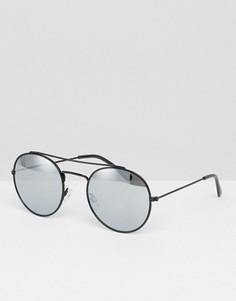 Солнцезащитные очки с зеркальными стеклами Monki - Черный