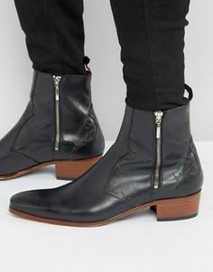 Ботинки в стиле вестерн на молнии Jeffery West Carlito - Черный