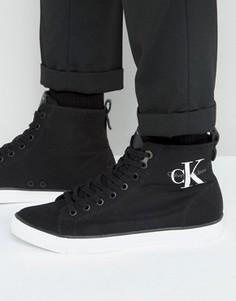 Высокие парусиновые кеды Calvin Klein Arthur - Черный