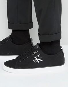 Парусиновые кеды с логотипом Calvin Klein Arnold - Черный