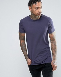 Облегающая футболка Liquor & Poker - Темно-синий
