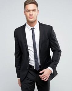 Приталенный пиджак Selected - Черный