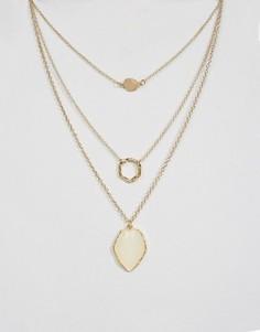 Трехъярусное ожерелье DesignB - Золотой