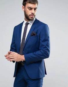 Приталенный пиджак Selected - Синий