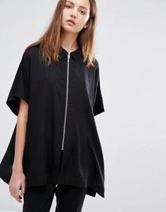 Блузка на молнии Weekday - Черный