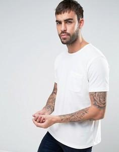 Футболка с перфорацией и с карманом YMC - Белый