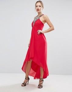 Платье макси с декоративной отделкой Little Mistress - Красный