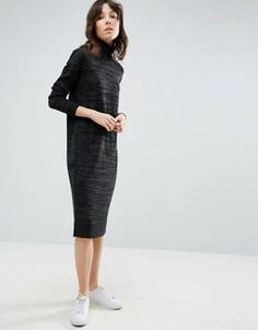 Вязаное платье с высокой горловиной ASOS - Серый