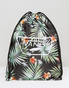 Рюкзак с пальмовым принтом и завязкой Vans League V002W6KVR - Черный