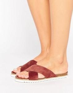 Замшевые сандалии на плоской подошве Vero Moda - Серый