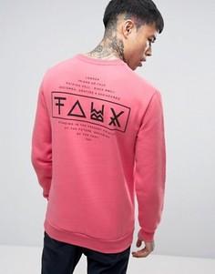 Свитер с принтом на спине Friend or Faux Limitless - Розовый