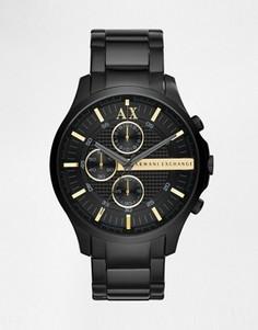 Часы с браслетом из нержавеющей стали Armani Exchange AX2164 - Черный