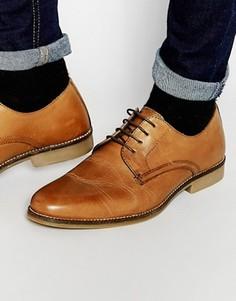 Светло-коричневые кожаные туфли со шнуровкой Red Tape - Рыжий