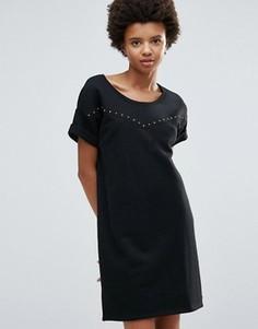Трикотажное платье-футболка Maison Scotch - Серый