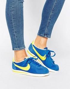 Синие нейлоновые кроссовки Nike Classic Cortez - Синий