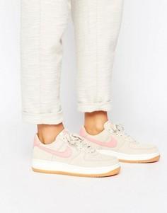 Розово-бежевые кроссовки Nike Air Force 1 07 - Мульти