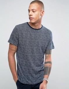 Жаккардовая футболка Bellfield - Темно-синий