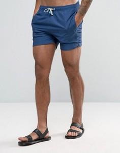 Темно-синие шорты для плавания средней длины Oiler & Boiler Tuckernuck - Темно-синий